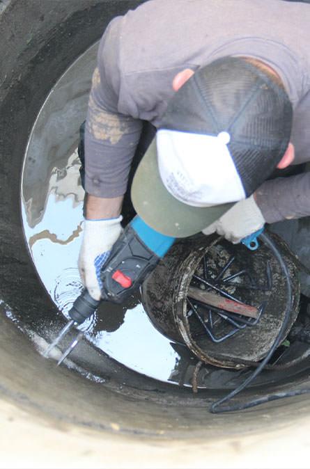 Как мы выполняем ремонт колодцев в Луховицком районе